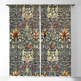 William Morris Indian Snakeshead Victorian Textile Floral Pattern Blackout Curtain