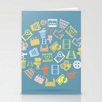 cinema Stationery Cards featuring Cinema circle by aleksander1