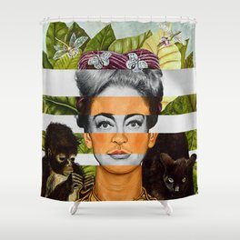 """""""Self Portrait with Thorn Necklace"""" & Joan Crawford Shower Curtain"""