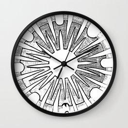 Polypite of Aurelia Aurita Cut Wall Clock