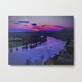 Sunset on the Colorado Metal Print