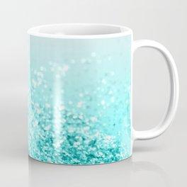 Silver Gray Aqua Teal Ocean Glitter #1 #shiny #decor #art #society6 Coffee Mug