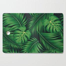 Tropical leaf illustration Cutting Board