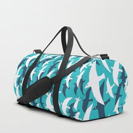 Seagulls, seamless pattern Duffle Bag