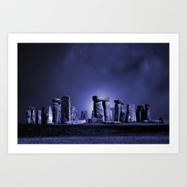Strange Night at Stonehenge Art Print