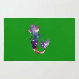 Galaxy Mermaid (Green) Rug