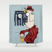 drink Shower Curtains featuring DRINK by Ivano Nazeri