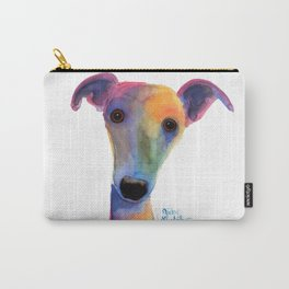 Nosey Dog Whippet Greyhound ' PANSY ' by Shirley MacArthur Carry-All Pouch
