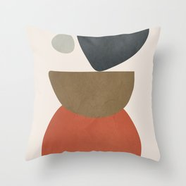 Abstract Balancing Stones Throw Pillow