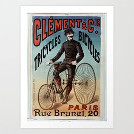 Old Sign - Bicycles Art Print