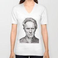 clint barton V-neck T-shirts featuring Clint by Rik Reimert