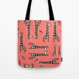 Lovingly, Giraffe - Peach Echo Tote Bag