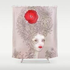 Rose in hair Shower Curtain