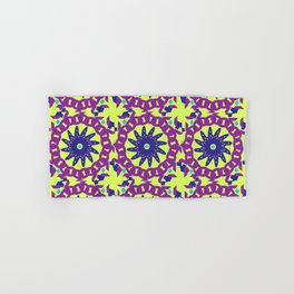 Chained Link Purple Spiral Flowers Hand & Bath Towel