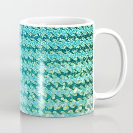 Mermaid Waves and Sea Foam, Sun Light over the Ocean Coffee Mug