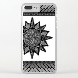 Goth Sun on White Clear iPhone Case