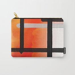 Orange Yellow Watercolor Abstract Pattern Carry-All Pouch