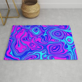 Liquid Color Pink and Blue Rug