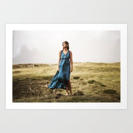 Paula as a greek goddess Art Print