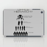 the office iPad Cases featuring Office Hierarchy by TheShadowTheatre