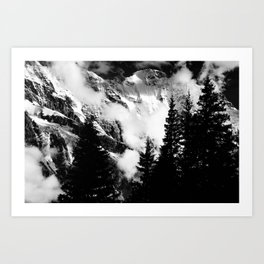 Alpine Classic (Black and White) Art Print