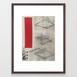 X-Intercept Framed Art Print