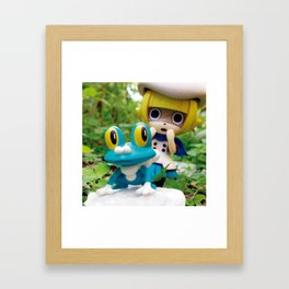 Silliness in the meadow Framed Art Print