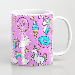 Kawaii Sweet Pink Glittery unicorn pattern Coffee Mug