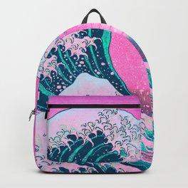 Vaporwave Aesthetic Great Wave Off Kanagawa Backpack