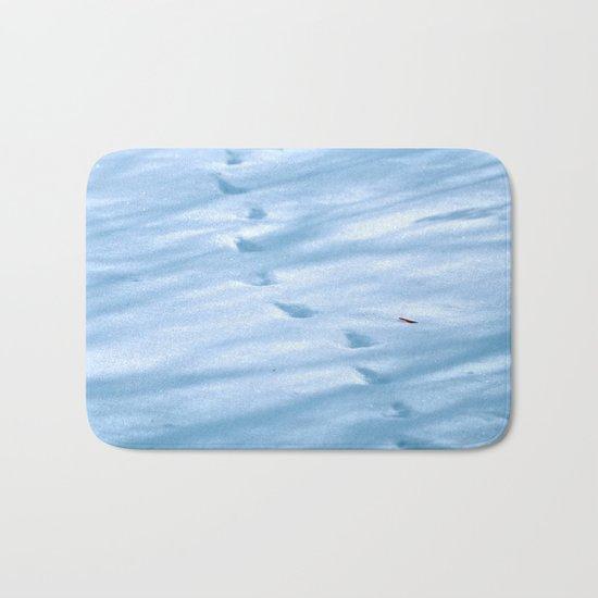 Snow Fall Feather Bath Mat