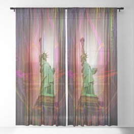 Statue of Liberty Sheer Curtain