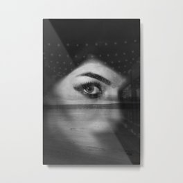 Street portrait and beach Metal Print