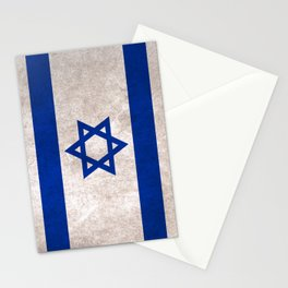 Israel Flag (Vintage / Distressed) Stationery Cards