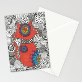 Kitty-tangle Stationery Cards
