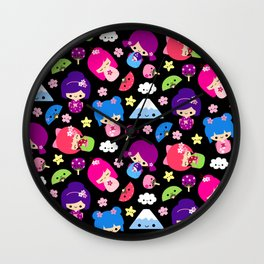 Kawaii Kokeshi J-Pop! Wall Clock