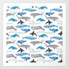 Whale Constellation Art Print