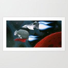 Space Kat Art Print