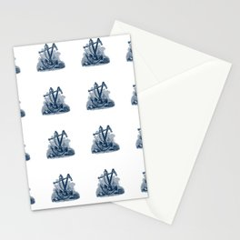 Nautical Marine Anchor Sailor Seamless Pattern Stationery Cards