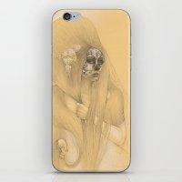 dia de los muertos iPhone & iPod Skins featuring Dia de los Muertos by Jessica Ward