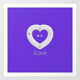 iLove Purple Art Print
