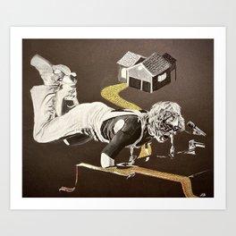 Goodbye Yellow Brick Road Art Print