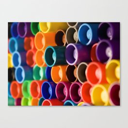 stacked markers Canvas Print