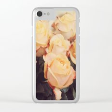 Light yellow roses Clear iPhone Case