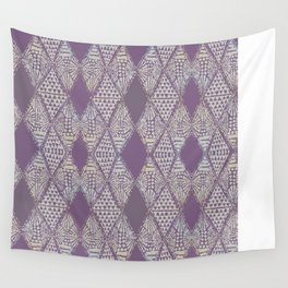 Tribal Mosaic in Mauve Wall Tapestry