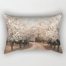 Dreamy Ethereal South Carolina Dogwood Trees Nature Landscape Rectangular Pillow