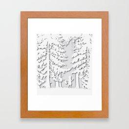 Little Red Riding Hood Cut Out Framed Art Print