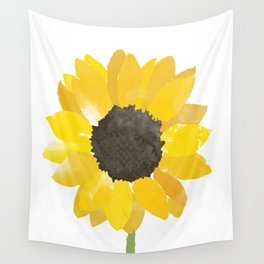 Watercolor Sunflower Wall Tapestry