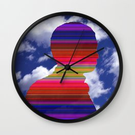 man in the sky Wall Clock