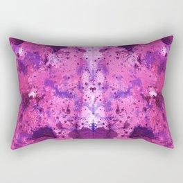 Purple Frenchy Heart Rectangular Pillow