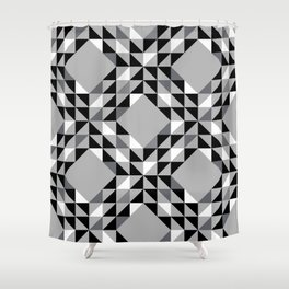 Cool Grey Ocean Waves Pattern Shower Curtain